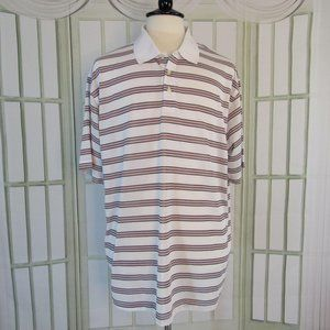 Bolle Golf Polo Rugby Shirt Striped Size 2XL Men's